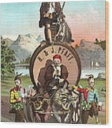 Vintage Celebrity Endorsement 1870 Wood Print by Padre Art
