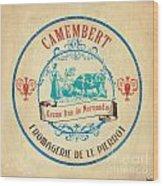 Vintage Cheese Label 3 Wood Print