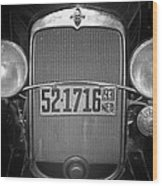 Vintage Chevrolet Grill Wood Print