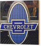 Vintage Chevrolet Logo Wood Print