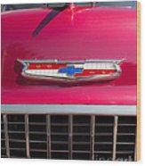 Vintage Chevy Bel Air Wood Print