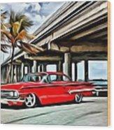 Vintage Chevy Impala Wood Print