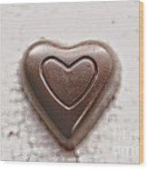 Vintage Chocolate Heart Wood Print