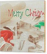 Vintage Christmas Cookie Cutters  Wood Print