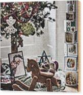 Vintage Christmas Wood Print