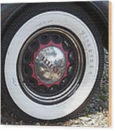 Vintage Chrysler Automobile Wide Whitewall Tire Poster Look Usa Wood Print