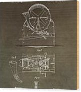 Vintage Cider Mill Patent Wood Print