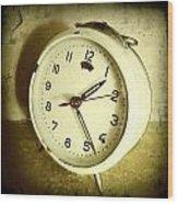 Vintage Clock Wood Print