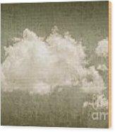 Vintage Clouds Background Wood Print