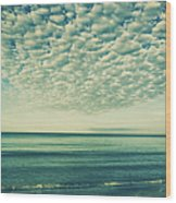 Vintage Clouds Wood Print