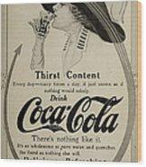 Vintage Coca Cola Ad 1911 Wood Print