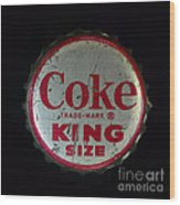 Vintage Coca Cola Bottle Cap Wood Print