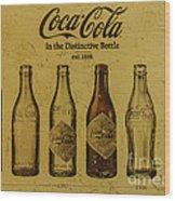 Vintage Coca Cola Bottles Wood Print