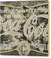 Vintage Coke Wood Print