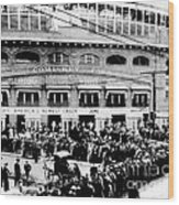 Vintage Comiskey Park - Historical Chicago White Sox Black White Picture Wood Print
