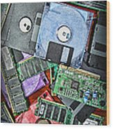 Vintage Computer Parts Wood Print by Paul Ward