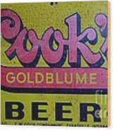 Vintage Cooks Goldblume Beer Sign Wood Print