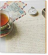 Vintage Correspondence Wood Print