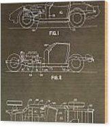 Vintage Corvette Patent Wood Print
