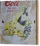 Vintage Cott Fruit Juice Sign Wood Print