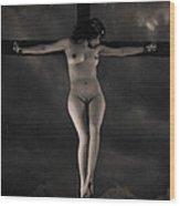 Vintage Crucifixion Wood Print