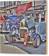 Vintage Cruise Cars 5 Wood Print