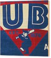 Vintage Cubs Spring Training Sign Wood Print