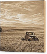 Vintage Days Gone By Wood Print