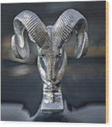 Vintage Dodge Ram Hood Ornament Wood Print