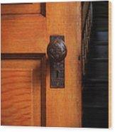 Vintage Door And Stairs Wood Print