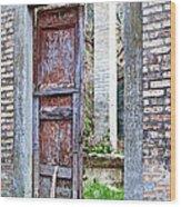 Vintage Doorway Wood Print by Susan Schmitz