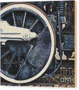 Vintage Drive Wheel Wood Print by Olivier Le Queinec