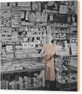Vintage Drug Store Wood Print