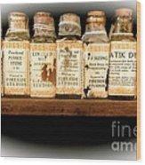 Vintage Dye Bottles Wood Print