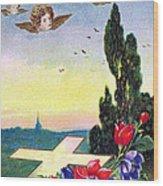 Vintage Easter Card Wood Print