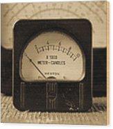 Vintage Electrical Meters Wood Print