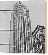 Vintage Empire State Building Wood Print
