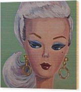 Vintage Fashion Doll Series  Wood Print by Kelley Smith