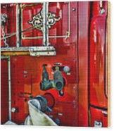 Vintage Fire Truck Wood Print