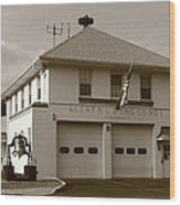 Congers, New York - Vintage Firehouse Wood Print