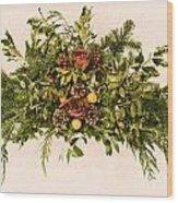 Vintage Floral Arrangement Wood Print