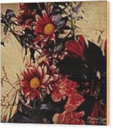 Vintage Floral Beauty  Wood Print