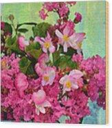 Vintage Floral Wood Print