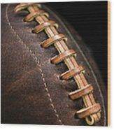 Vintage Football Wood Print