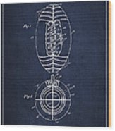 Vintage Football Patent Drawing From 1923 Wood Print