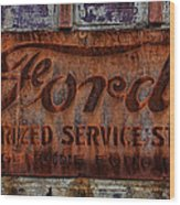 Vintage Ford Authorized Service Sign Wood Print