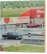 Vintage Ford Drag Racing Wood Print