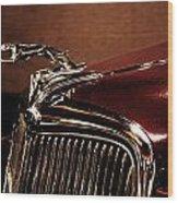Vintage Ford Hood Ornament Wood Print