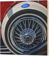 Vintage 1931 Ford Phaeton Spare Tire Wood Print