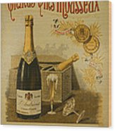 Vintage French Poster Andrieux Wine Wood Print